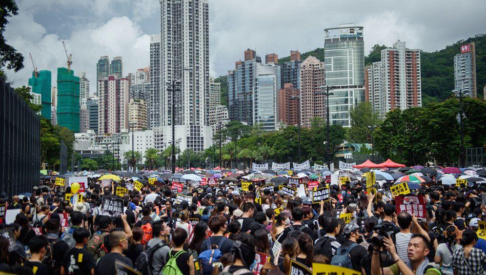 Hongkong: Demonstration im Victoria Park
