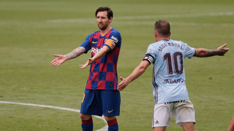 Lionel Messi: Zwei Vorlagen reichten nicht zum Sieg gegen Celta Vigo