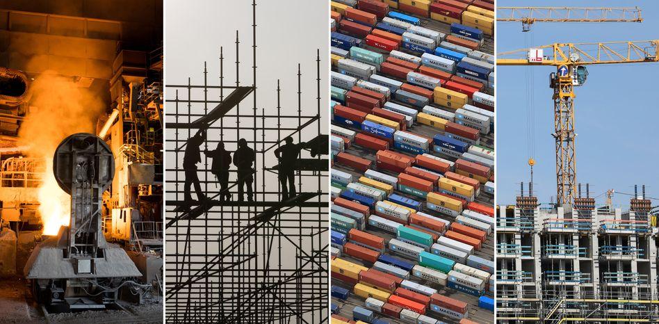 Arbeitsplätze in Industrie, Logistik und Bau