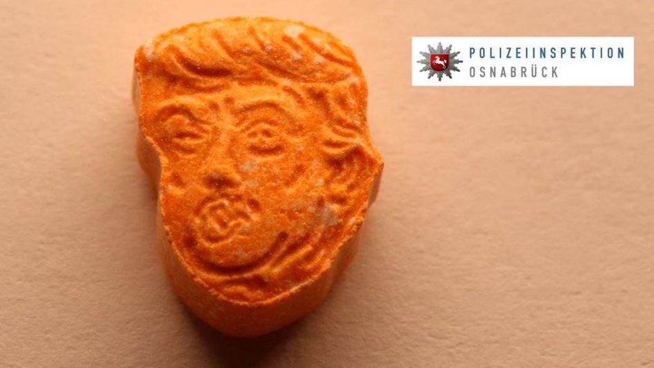 Ecstasy-Tabletten mit Konterfei von Donald Trump