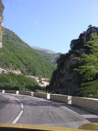 Gorges de Piaon: Auf dem Weg zur Südostrampa des Col de Turini