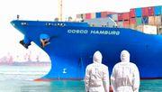 Chinesische Exporte gehen nur leicht zurück
