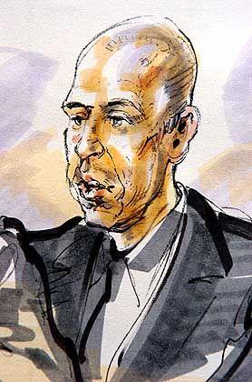 """Zeichnung des Angeklagten vor Gericht: """"Ich wollte einfach nicht, dass er es war"""""""