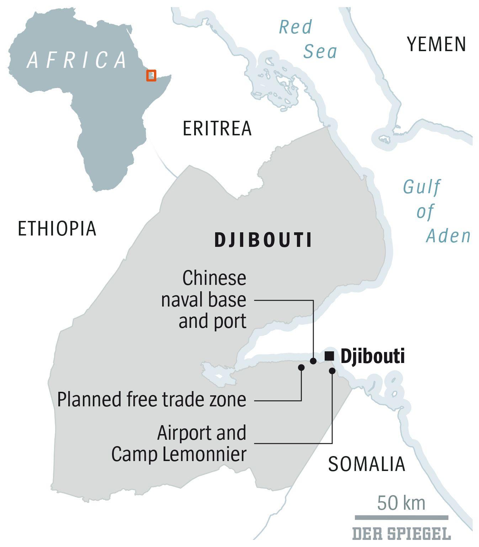 ENGLISH VERSION GRAFIK DER SPIEGEL 6/2018 Seite 86 - DJibouti - Dschibuti