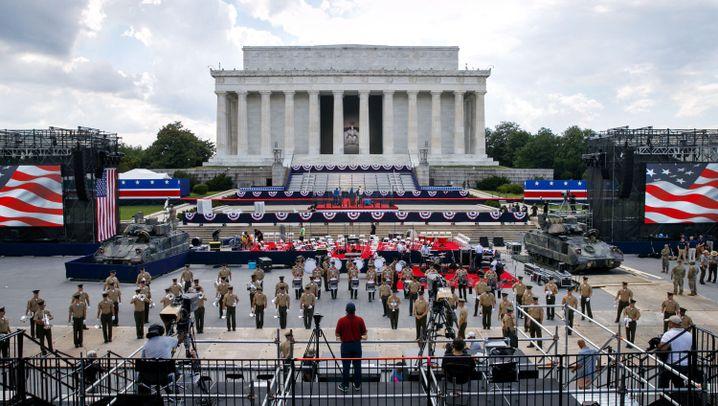 US-Nationalfeiertag: Trump lässt Panzer in Washington auffahren