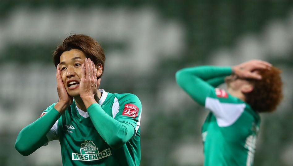Yuya Osako beim 1:1 gegen Köln: Nun geht's gegen die Bayern