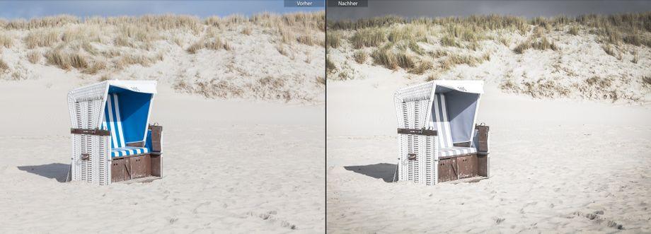 Vorgaben aus dem Paket World Traveler geben Reisefotos einen stimmungsvollen Analog-Look mit entsättigten Farben