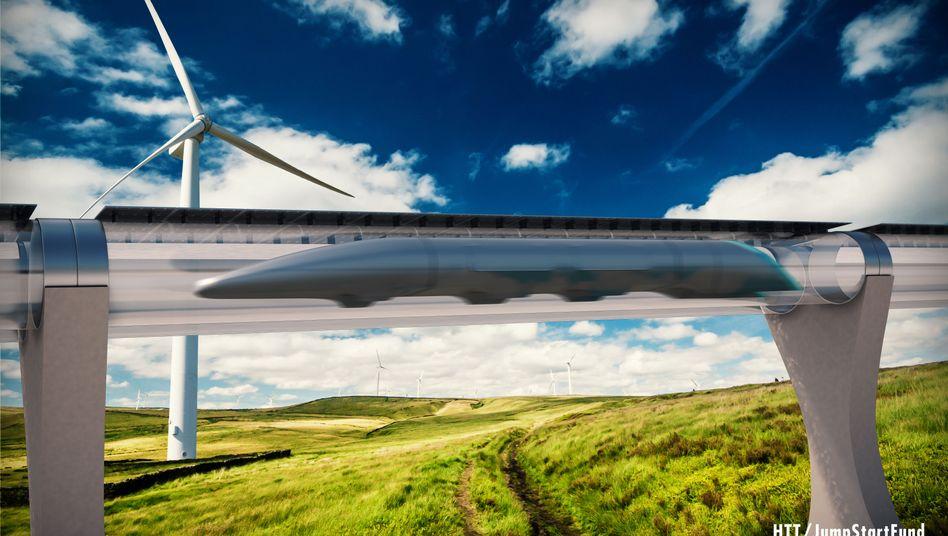 Hyperloop-Kapsel für Passagiere (Illustration)