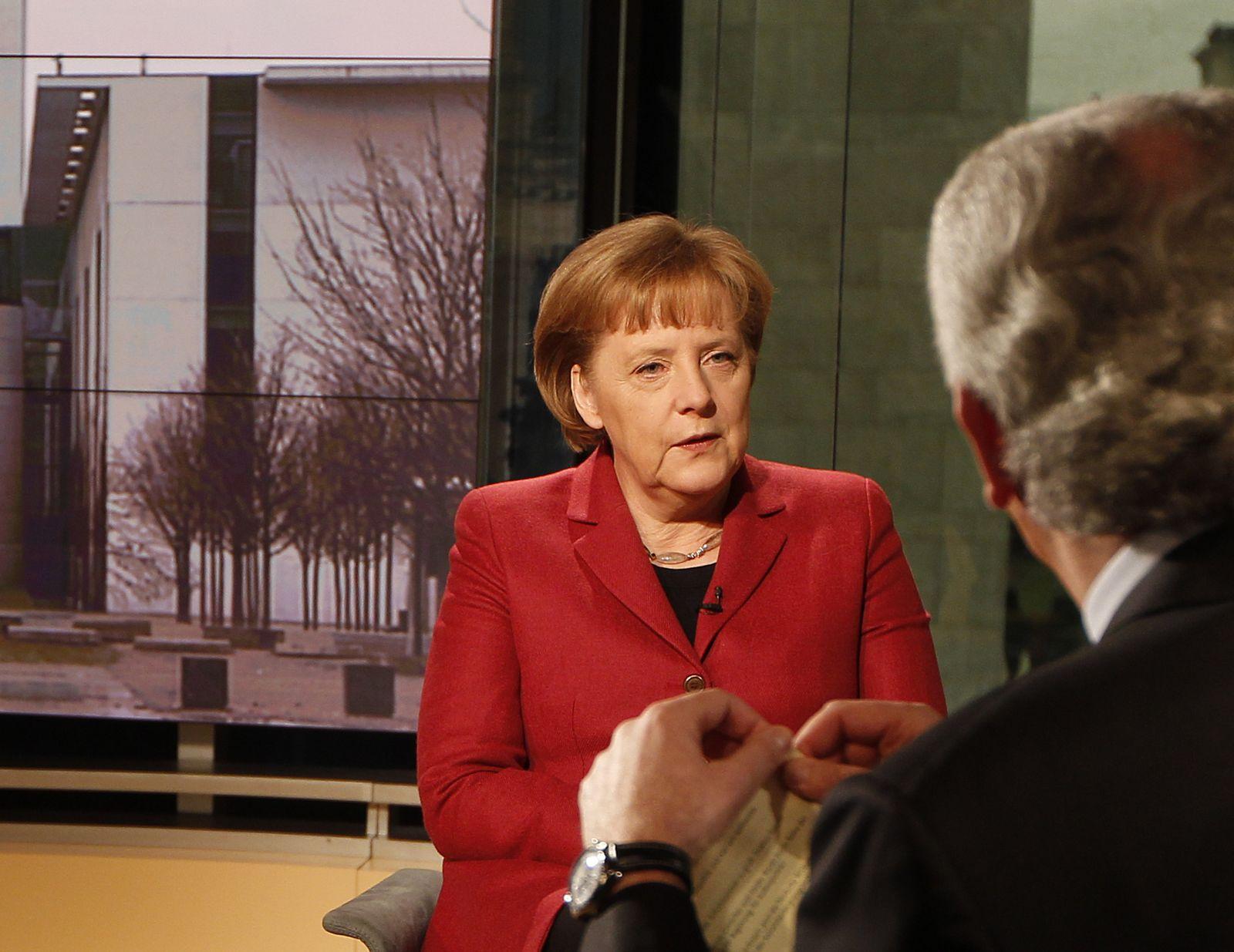 Merkel / Deppendorf / Bericht aus Berlin