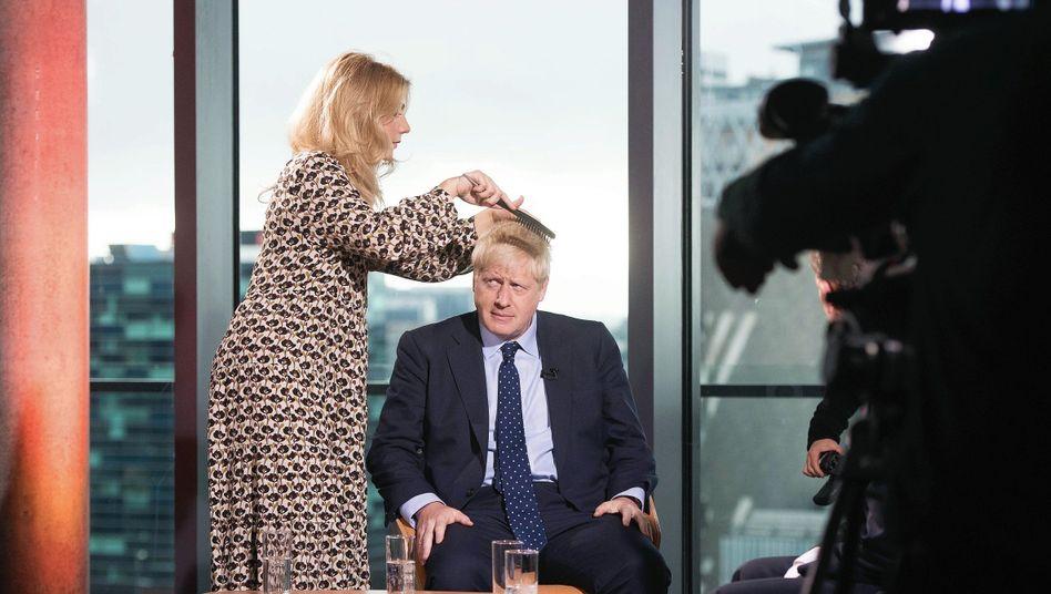 Boris Johnson ahead of an appearance on the BBC