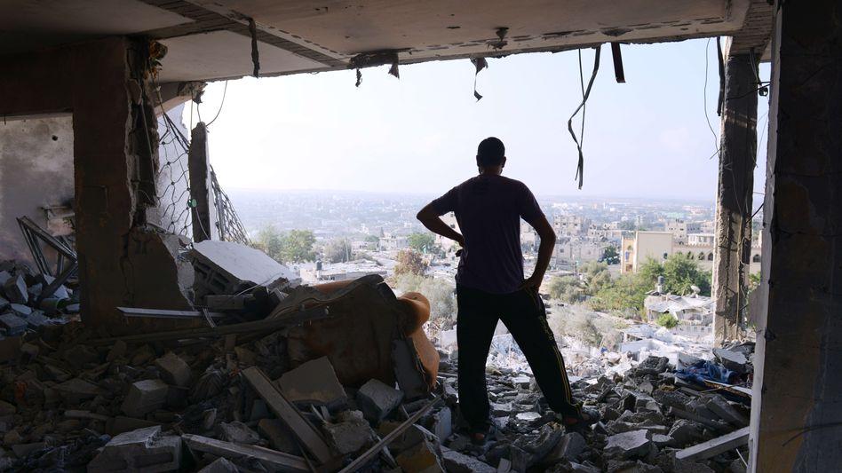 Zerstörte Häuser: Hamas und Israel haben die Waffenruhe verlängert