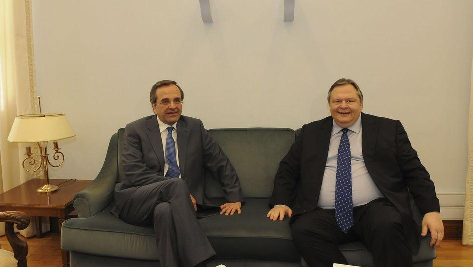 Der Konservative Samaras (links), der Sozialist Venizelos: Versuch Nummer drei