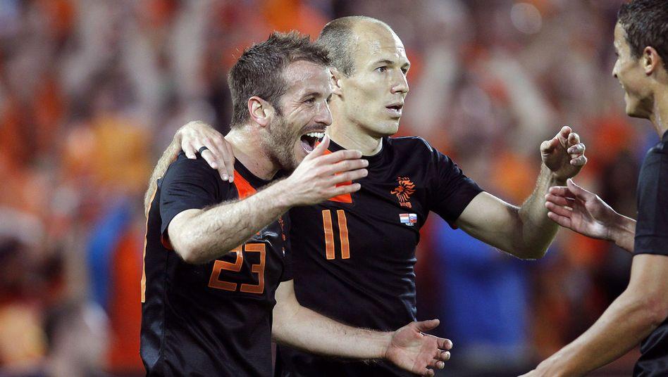 Niederländischer Nationalspieler van der Vaart (l.): Treffer gegen die Slowakei