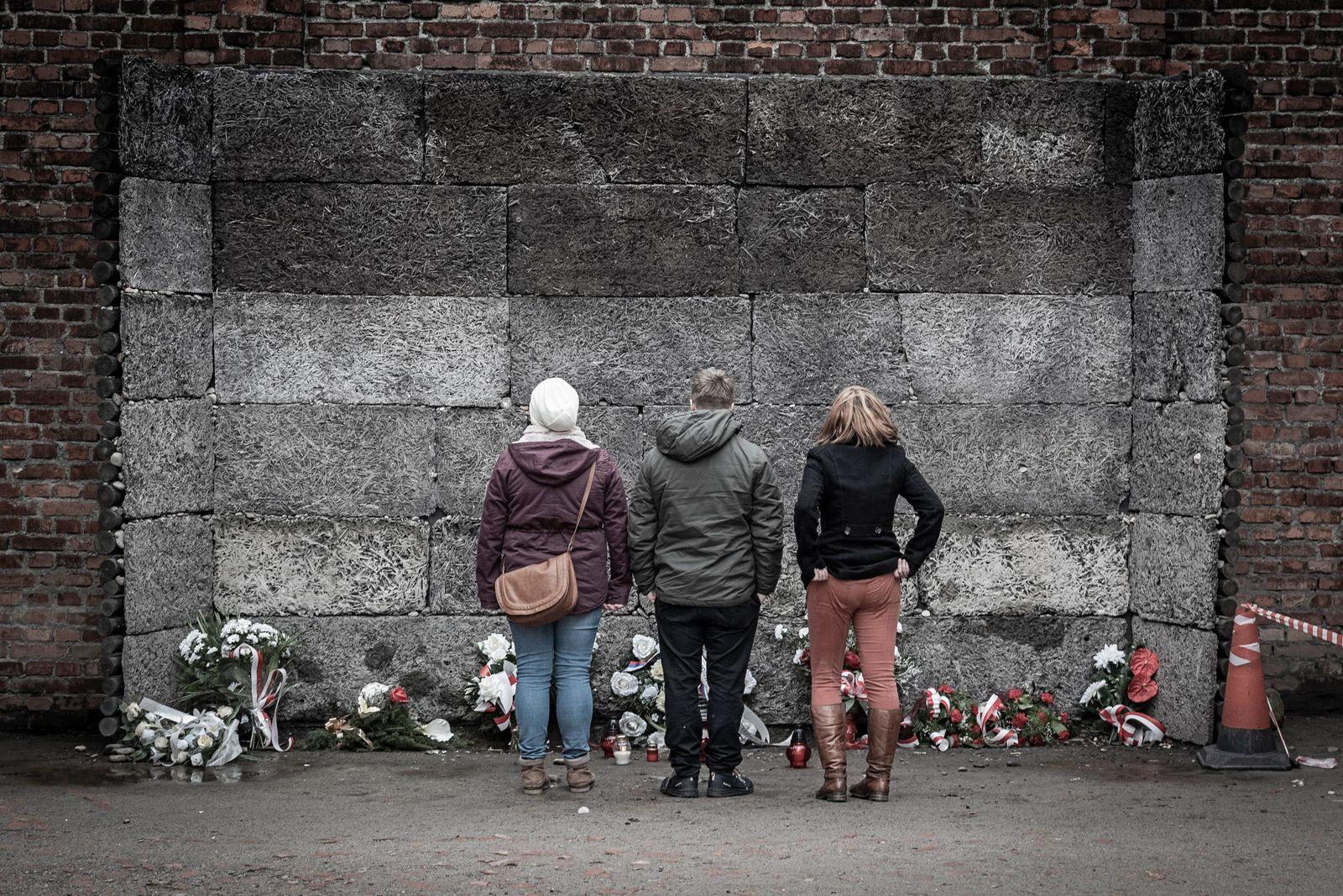 30.11.2018, xovx, Politik, Zeitgeschehen, Geschichte, Konzentrationslager Auschwitz, Polen 3 Jugendliche an der Gedenkst