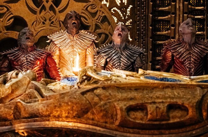 "An Bord des Klingonen-Raumschiffes ""Sargophagus"""