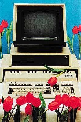 Fast wie am Muttertag: Werbeplakat für Tulip-Computer, Holland 1984
