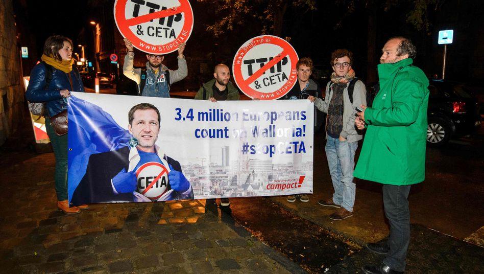 Proteste gegen Ceta im belgischen Wallonie