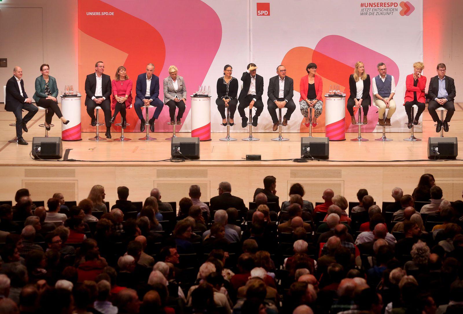 Kandidaten für den Parteivorsitz der SPD