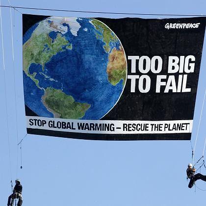 Greenpeace-Protest beim Klimagipfel: Warten auf Ergebnisse