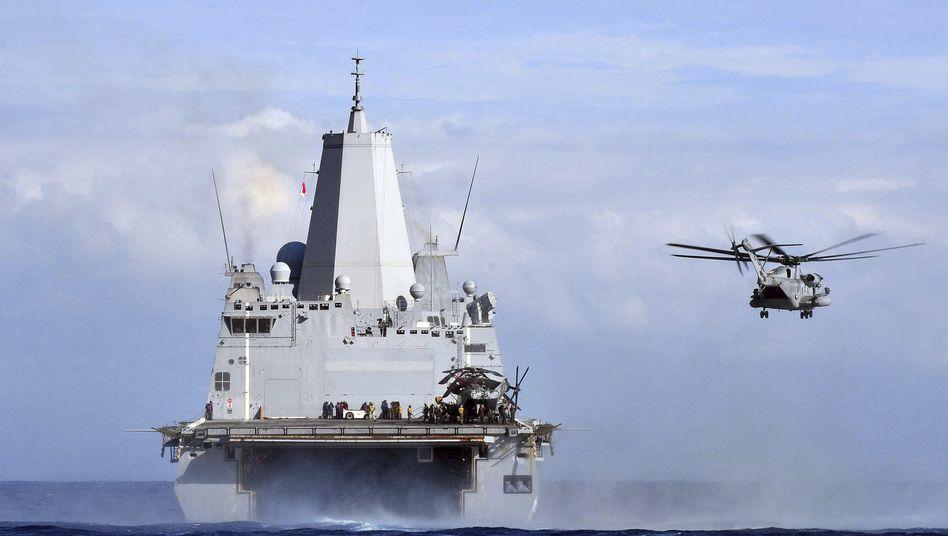 US-Kriegsschiff im Mittelmeer: Mögliche Unterstützung für Irak