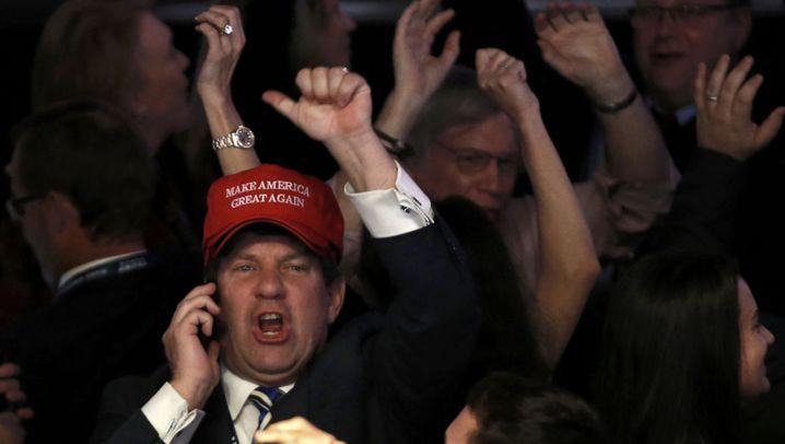 Frust und Jubel: Die Bilder der Wahlpartys in New York