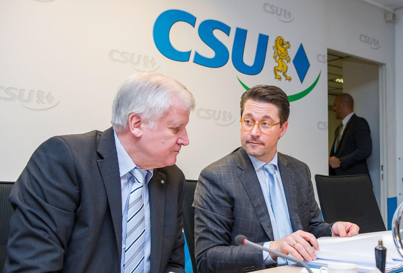 CSU-Vorstandssitzung / Scheuer