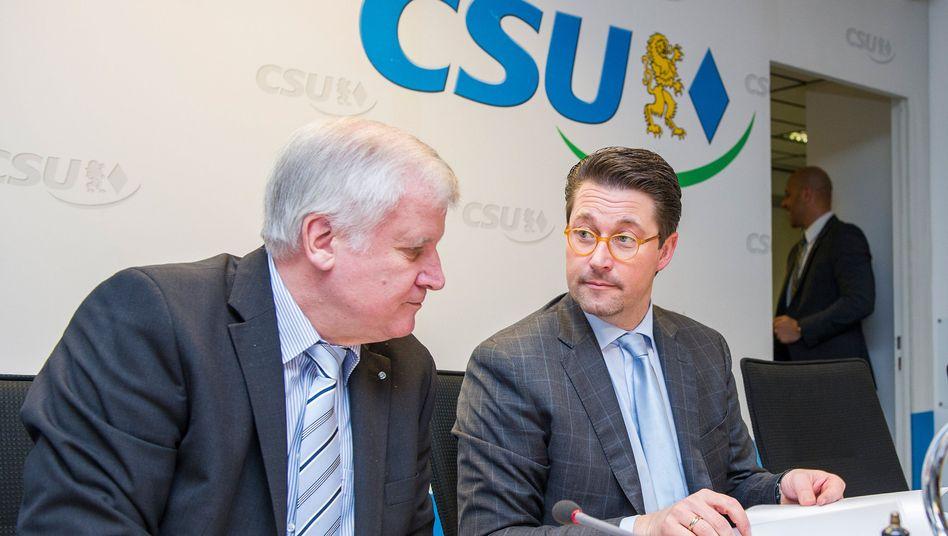 """Seehofer und Scheuer: """"Volles Vertrauen"""""""