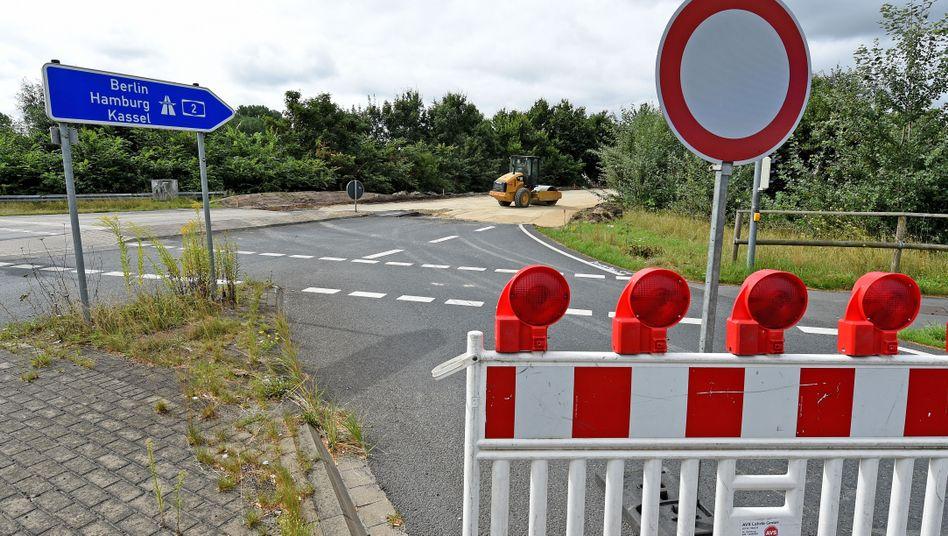 Sperrung einer Anschlussstelle auf die A2