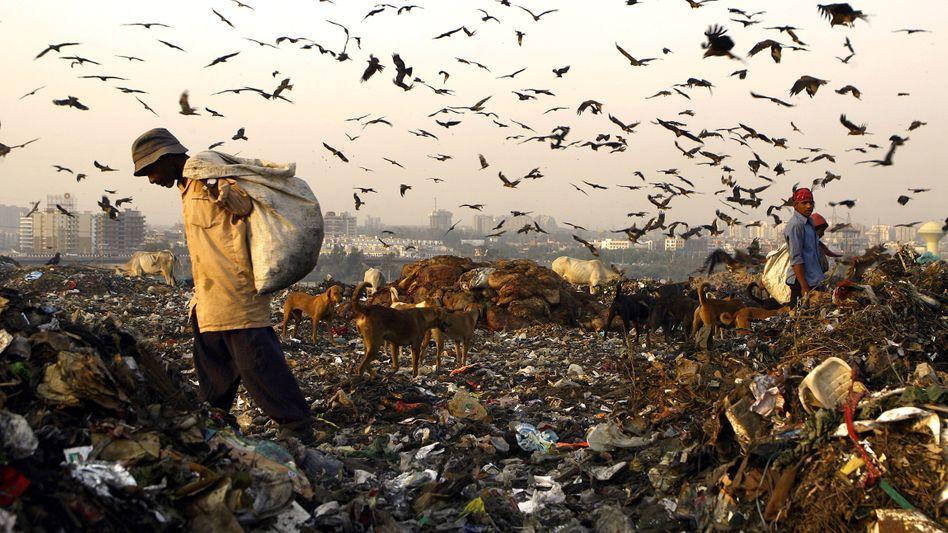 Mülldeponie in Indien: Immer mehr Menschen, immer mehr Wirtschaftswachstum