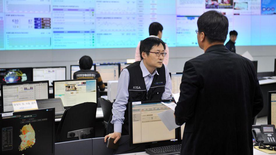 Koreanische Behörde für Internetsicherheit in Seoul: Suche nach den Hackern