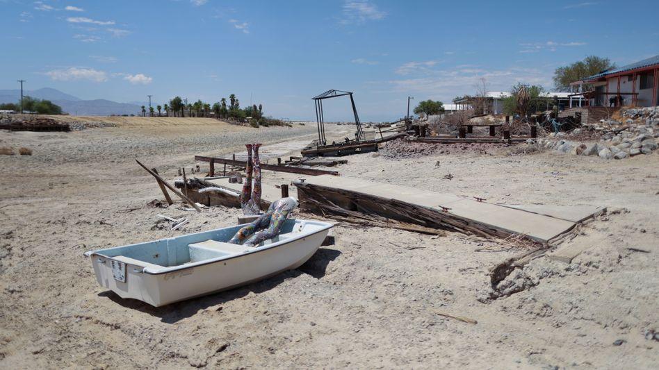 Schwerste Dürre in Kalifornien seit 1977 (am Salton Sea): In den nächsten Wochen erwarten Experten aufgrund von Trockenheit und Hitze auch wieder vermehrt Brände