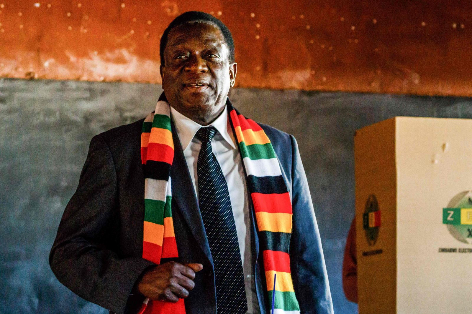 EINMALIGE VERWENDUNG Simbabwe/ Wahlen/ Emmerson Mnangagwa