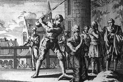 Hinrichtung im Mittelalter (ca. 1550): Vorliebe für frische Kadaver, gerädert oder geköpft