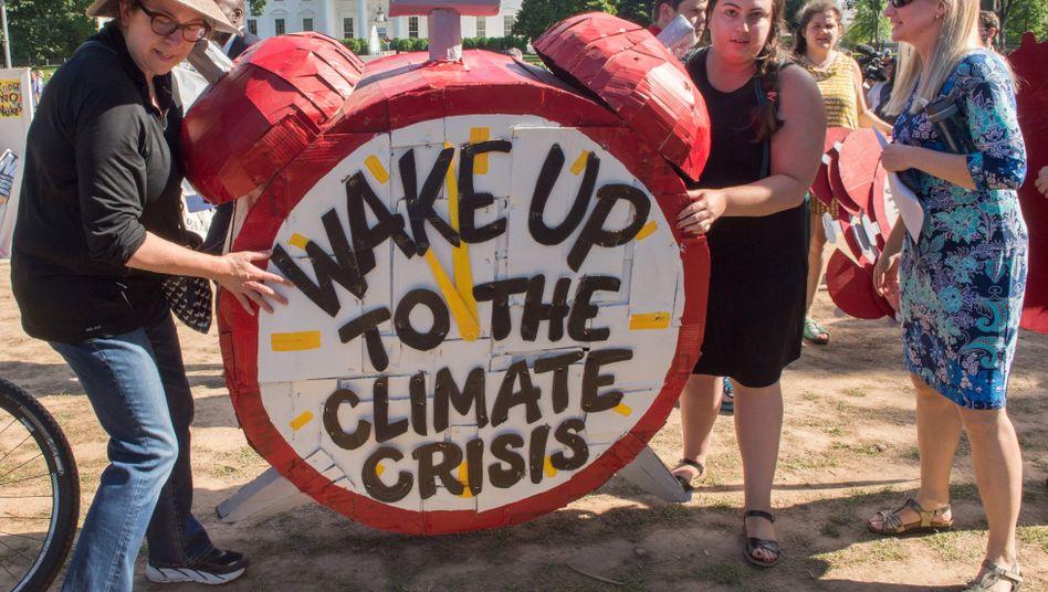 Klima-Protest vor dem Weißen Haus