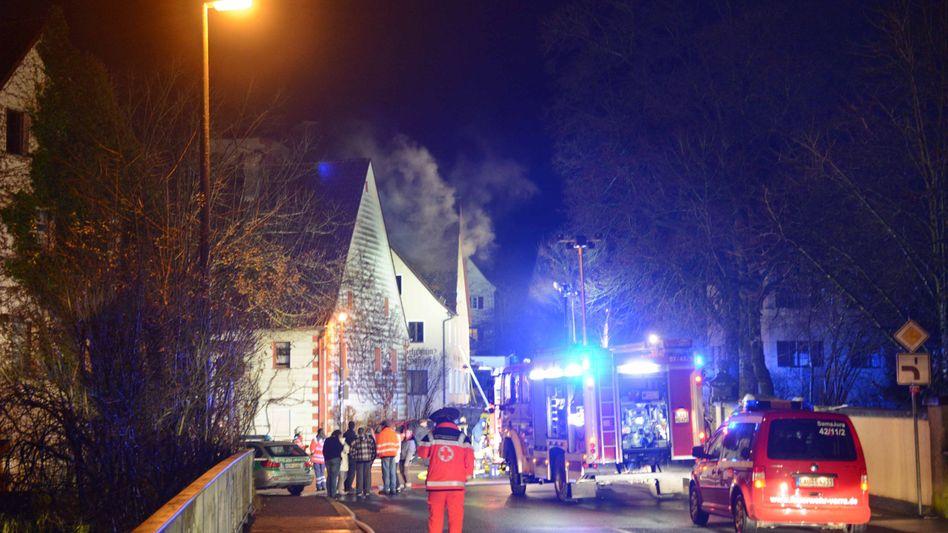 Brandanschlag im Dezember 2014 in Vorra (Bayern)