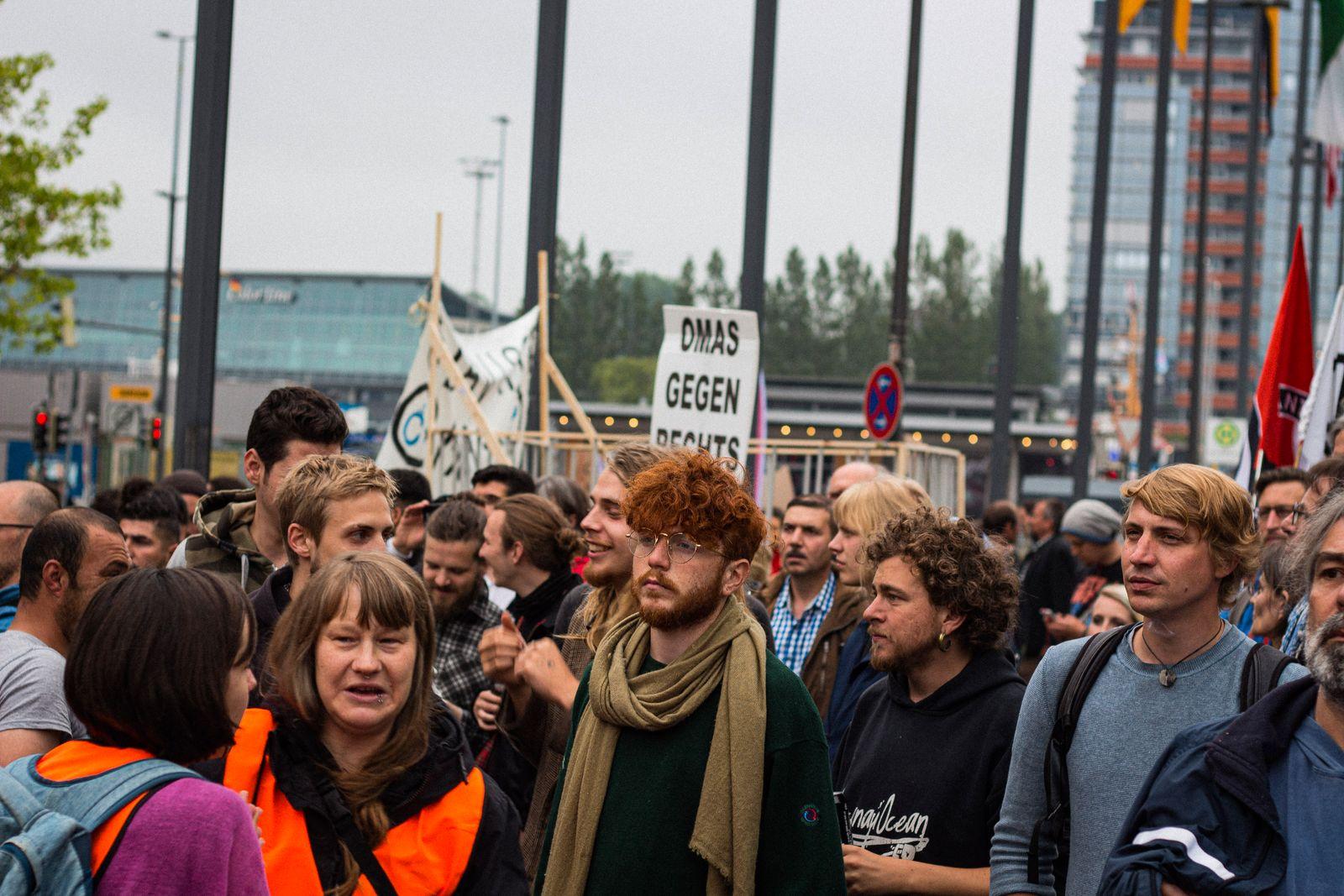 Protest gegen Innenministerkonferenz in Kiel