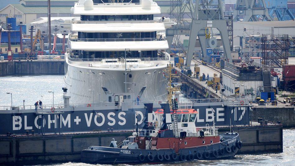 Trockendock von Blohm + Voss: Fast 500 Millionen Euro Umsatz