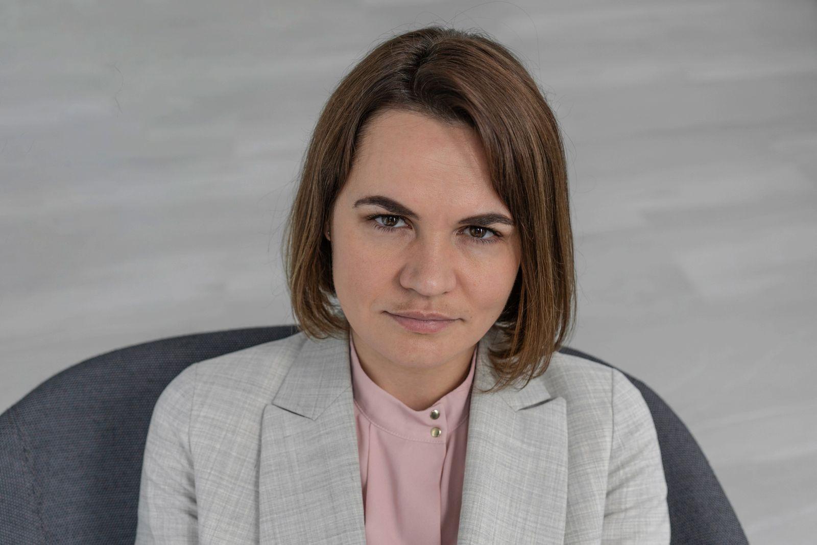 Sviatlana Tsikhanouskaya for Der Spiegel, photographed by Severina Venckutė, 2021, Vilnius.