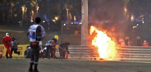 Formel 1: Großer Preis von Bahrain nach Unfall mit Feuerentwicklung unterbrochen