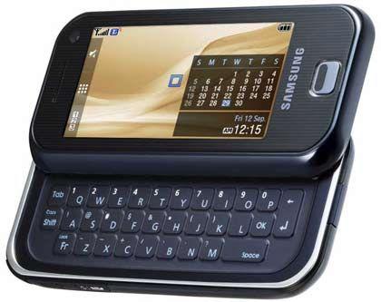 Samsung F700: iPhone-Gegner mit Ausklapptastatur und HSDPA-datenfunk