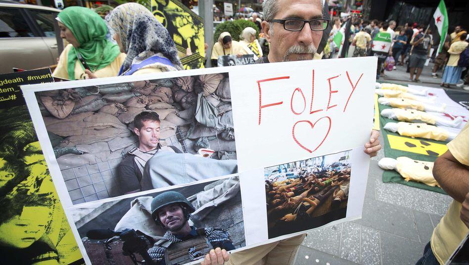 Gedenken an James Foley in New York: Geheimdienste sind dem mutmaßlichen Mörder auf der Spur