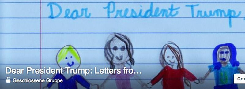 Facebookgruppe: Dear President Trump: Letters from Kids About Kindness