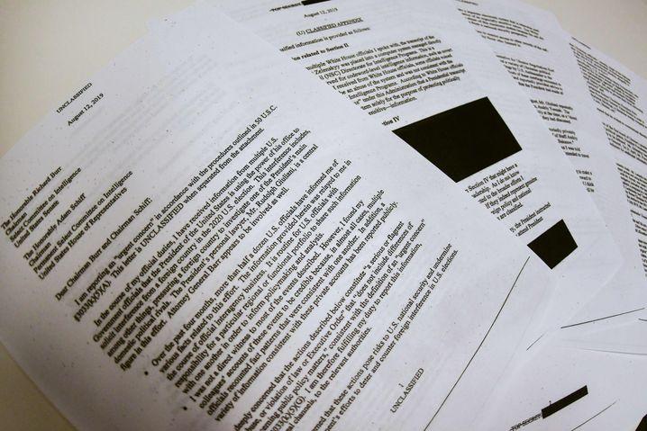 Der Whistleblower-Bericht, der die Ukraineaffäre ins Rollen brachte