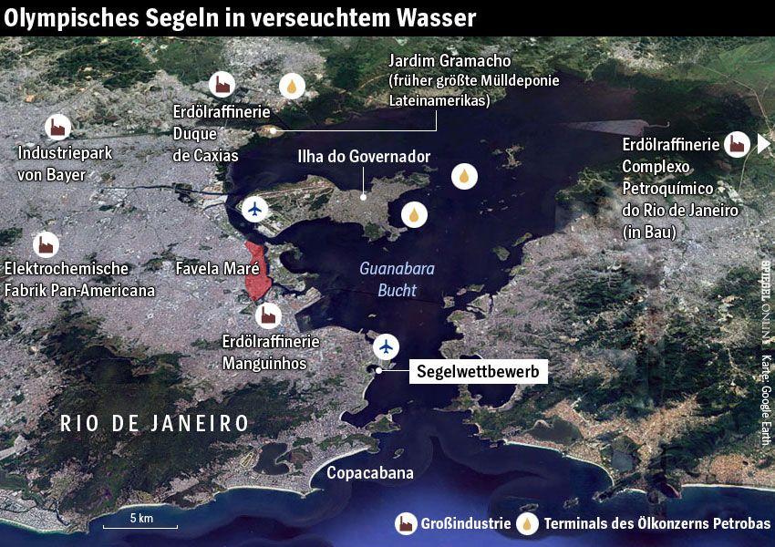 Karte - Guanabara Bucht - Rio de Janeiro - Segeln