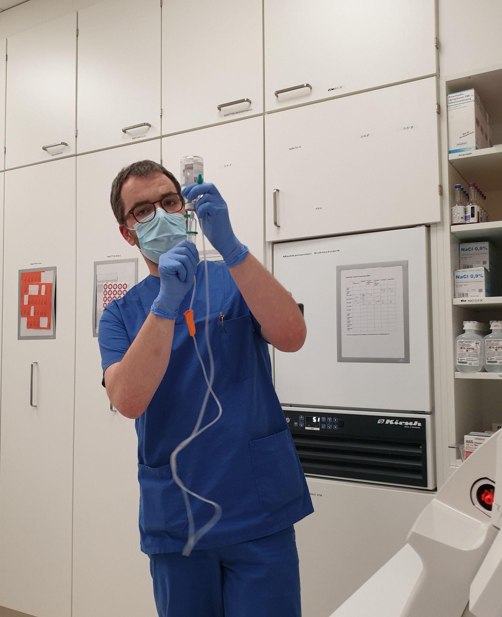 Pflege während Corona-Pandemie