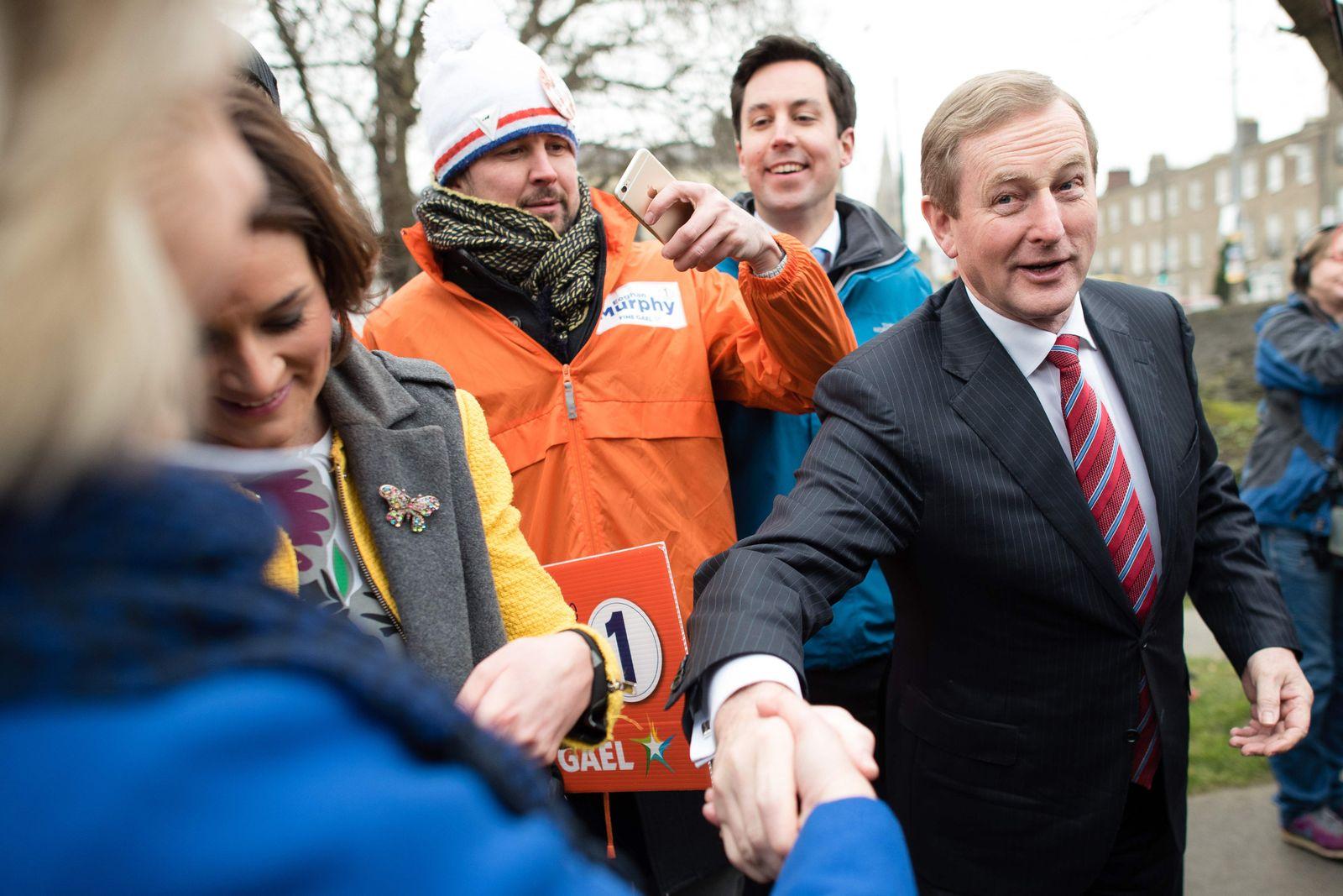 Wahlen / Irland / Enda Kenny