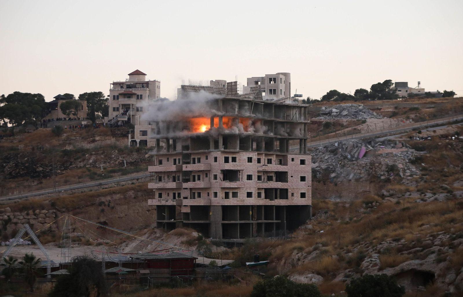 Israel zerstört Häuser von Palästinensern an Sperranlage