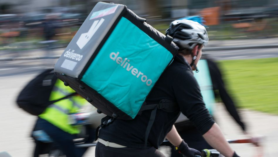 Deliveroo-Fahrer in Berlin (April 2018)