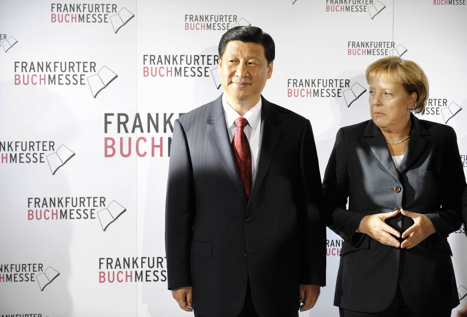 NICHT VERWENDEN Merkel / Buchmesse Frankfurt