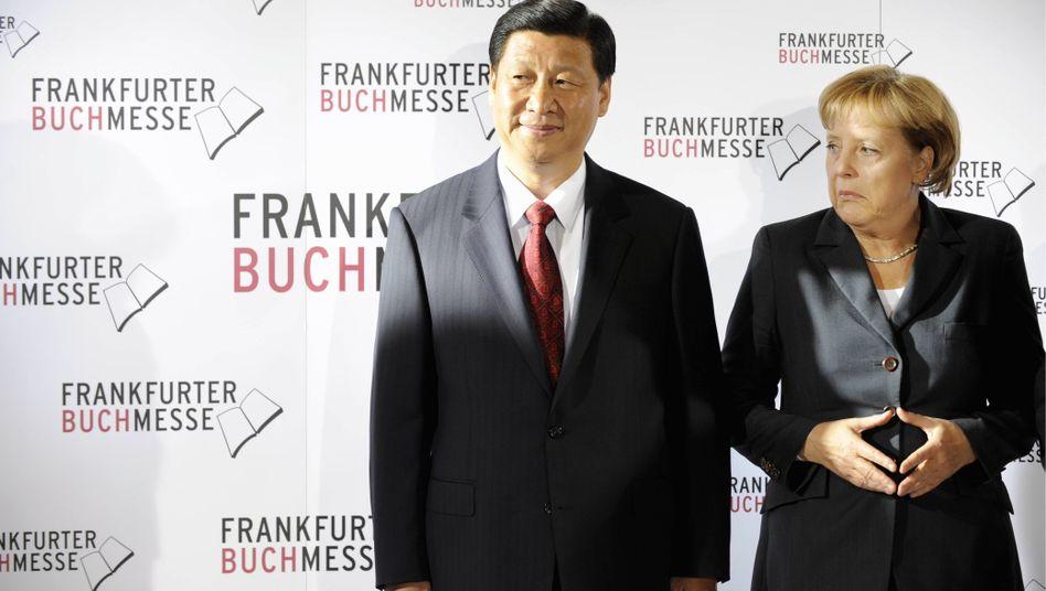 "Kanzlerin Merkel, Chinas Vizepräsident Xi Jinping: ""Gemein und vulgär"""